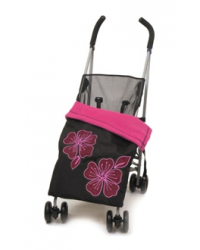 Weatherproof Applique Cerise Buggy Blanket