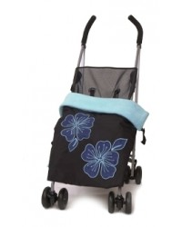 Weatherproof Applique Aqua Buggy Banket