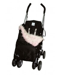 Weatherproof Shaggy Pink Faux Fur Buggy Blanket
