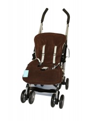 Reversible Brown & Taupe Fleece Buggy Liner
