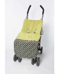 Reversible Lime Polka Dot Buggy Muff