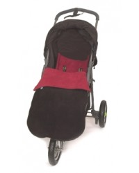 Reversible Black & Red Fleece Buggy Muff