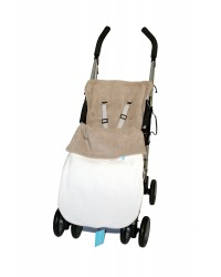 Reversible Taupe & Cream Fleece Buggy Muff