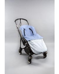 Reversible Sky blue with Blue Mini Floral Print Summer Cotton buggy Muff.