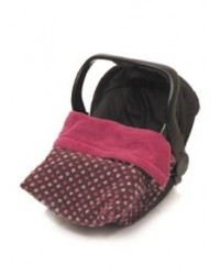 Reversible All Pink Polka Dot Car Seat Blanket