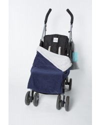 Reversible Navy & Silver Buggy Blanket